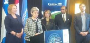 UNESCO Chief - Irina Bokova opens the International Conference on Internet and the Radicalization of Youth in Quebec Canada.