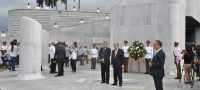 UN Secretary-General António Guterres at the wreath-laying ceremony at the Jose Marti memorial.