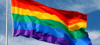 The rainbow flag, commonly known as the LGBTIQ pride flag.