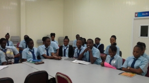 Students at the Speyside High School - Advanced  Level studies who interacted with the UNIC