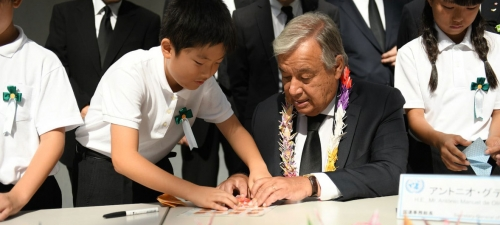 Nagasaki is 'a global inspiration' for peace, UN chief says marking 73rd anniversary of atomic bombing