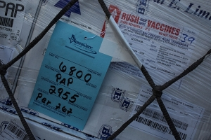 A shipment of cholera vaccines arrives in Haiti.
