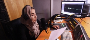 Inside an Afghan radio studio, where women's voices call for democracy and human rights