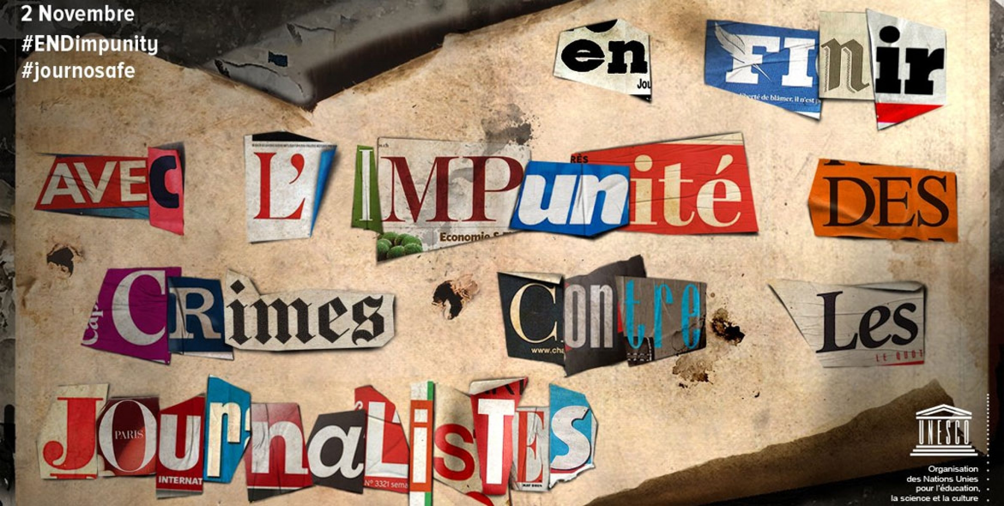 International Day to End Impunity for Crimes against Journalists, poster