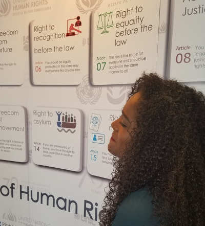 MUN trainer looks at the UDHR at the MUN 2018 - Hilton Hotel in Trinidad