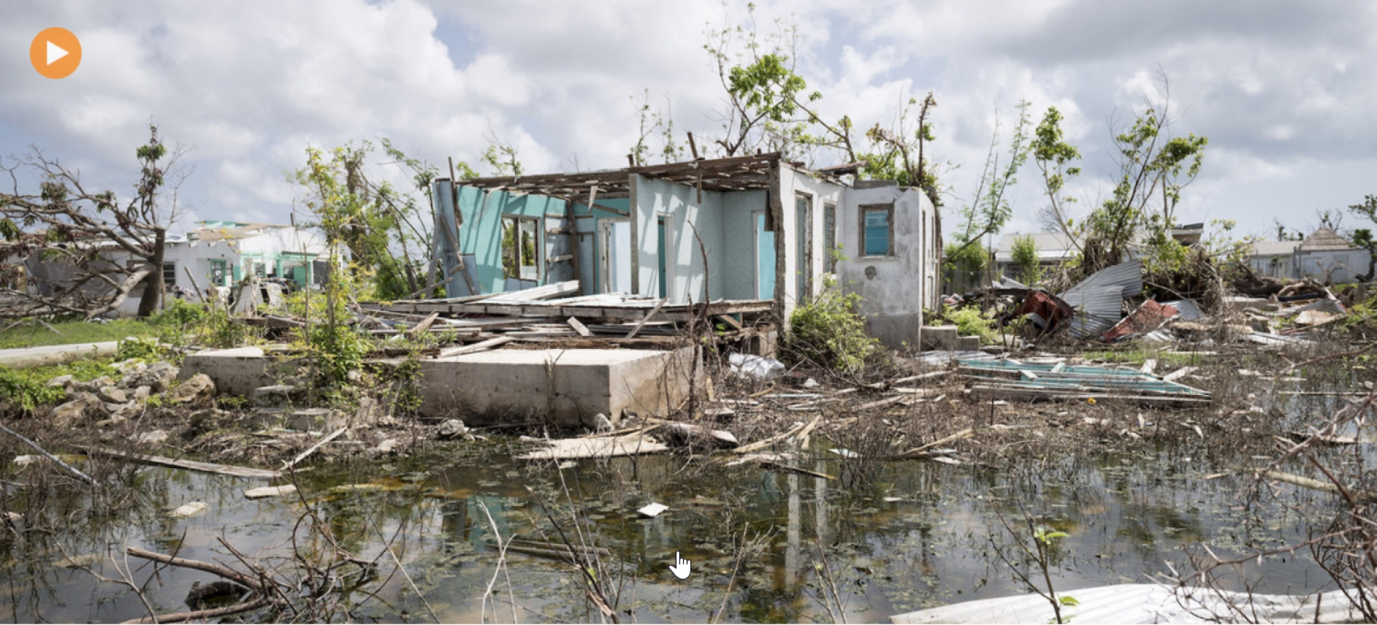 A scene of devastation in the wake of Hurricane Irma, which struck Antigua and Barbuda in the Caribbean region in 2017.