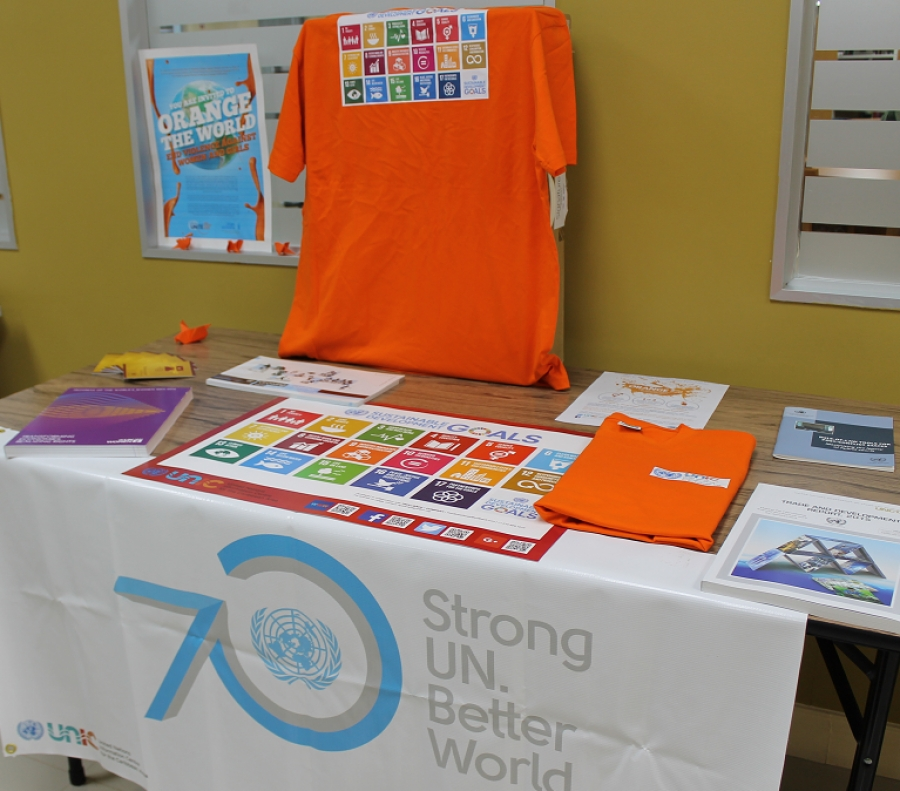 UNIC exhibits SDG and Human Rights at the Tobago Library in Scarborough